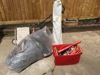 Job Lot of caravan accessories awning, aqua Roll, hookup cable, step
