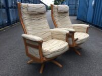 ERCOL GINA BLONDE RECLINING SWIVEL CHAIRS Possible Delivery