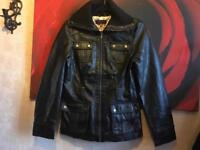 New look ladies leather jacket full zipper size 12 used £10