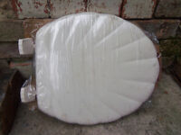 WHITE Toilet seat - Shell moulded wood seat BRAND NEW