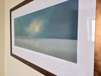 Lawrence Coulson Signed Limited Edition Framed Perfect Storm beach couple sea