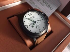 New Panerai Luminor Militare Automatic Watch, See Through back