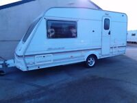 ABBEY HARLECH 1999 TOURING CARAVAN WITH AWNING