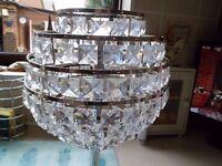 Crystal type lamp shade
