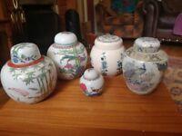 5 Ginger Jars