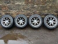 "Fox MS007 17"" alloy wheels with Vredestein Quatrac 5 tyres - Audi/VW/Seat/Skoda fitment"