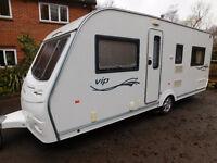 Coachman ViP 535/4, Luxury Fixed Bed 4 Berth, 2008 model, Fixed Bed