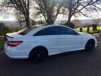 Mercedes E Class Coupe E350 - Factory Calcite White Remapped by GAD tuning to 300 Bhp
