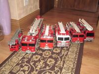 """6 model fire engines about 13"""" long"""