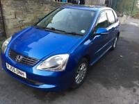 2005 Honda Civic 1.6 petrol in blue