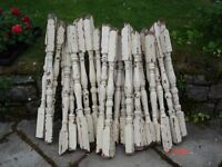 30 old staircase baluster spindles .