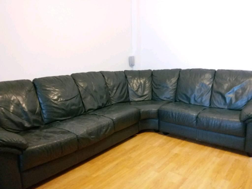 Leather Ikea Corner Sofa - 7 seats - Good Condition