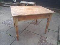 Antique farmhouse pine table