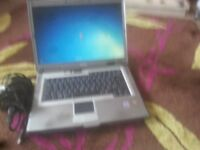 """for sale dell 15"""" widescreen laptop with changer £25"""