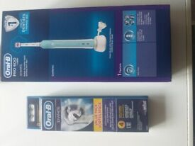 Oralb pro600 3d white new with heads