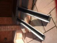 lightweight wheelchair portable ramp, 5ft long, slides down to20 ins into carry bag .
