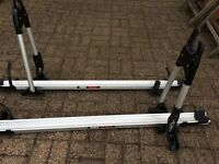 Thule roof mounted bike rack