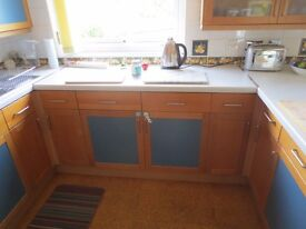 Complete Magnet beech fitted kitchen (used)