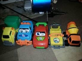 Toy cars lorry rubbish bundle