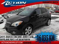 2015 BUICK ENCORE AWD LEATHER TOIT,1.4T,AUTO,AIR,BLUETOOTH