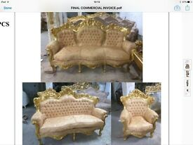 Fabulous French Rococo style 3 piece sofa sets
