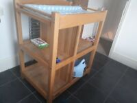 Good quality wooden changing table