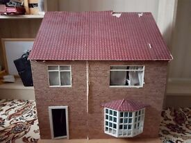 Hand-made child's dolls house