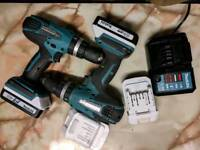X2 Makita 18v cordless combi hammer drills