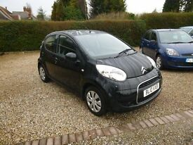 2010 CITREON C1 VTR+ 5 DOOR BLACK 12 MONTH M.O.T. FREE ROAD TAX