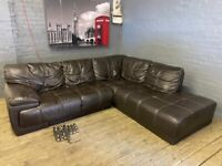 VIOLINO REAL ITALIAN LEATHER CORNER SOFA IN NICE CONDITION VERY COMFY FREE DELIVERY
