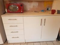 Kitchen units drawers, wall units and sink