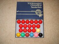 Full Size Tournament Champion Snooker Balls