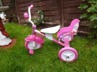girls sparkles trike in good condition