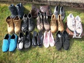 Assortment of shoes and boots, lady's and Men's, from 4 -7, Area Dereham