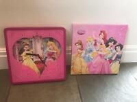 Disney princesses clock and canvas