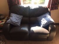 2 seat leather recliner sofa