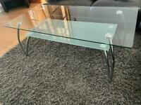 2 Tier Glass Coffee Table (reduced for fast sale)
