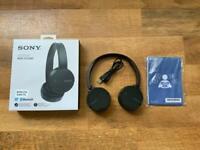 **READ**Brand New Boxed Black Sony MDR-ZX220BT NFC/Bluetooth Wireless Headphones