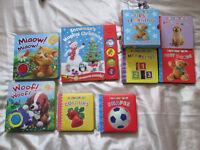 baby/children's books and sticker packs - NEW and unused