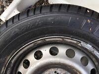 As New Van/Truck Tyre on Rim