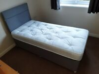 SINGLE BED WITH HEADBOARD - IMMACULATE