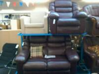 Burgundy/ brown 2 Seater sofa and armchair £150 #33118