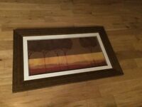 """Framed Picture in Bronze Coloured Frame 46"""" x 28.5"""" Ready to Hang"""