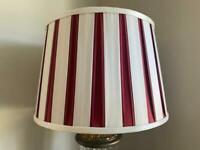 Laura Ashley silk cranberry lampshades (Pair)