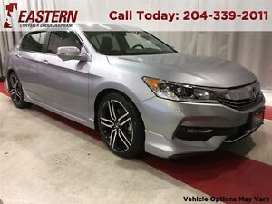 2016 Honda Accord Sport 2.4L PUSH STRT 19 ALLOY USB RADIO A/C CR
