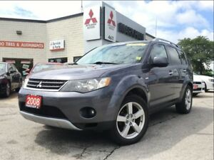 2008 Mitsubishi Outlander XLS (ONE OWNER! LEATHER!)