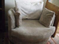 Large Swivel Cuddle Sofa/Love Seat RRP £349