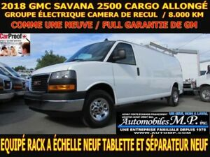 2018 GMC Savana 2500 CARGO ALLONG? 8.000 KM RACK A ECHELLE TABLE