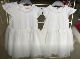 Two 12-18 Month white dresses by Next