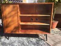 retro vintage glass wooden display cabinet bookcase BARGAIN!!!